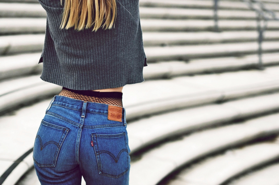 netzstrumpfhose, jeans, denim