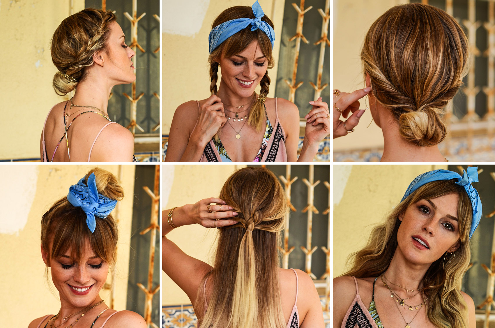 frisuren, beachfrisuren, bandana, hairstyles, beachwaves, strandfrisur, flechten, flechtfrisur, zwirbelfrisur