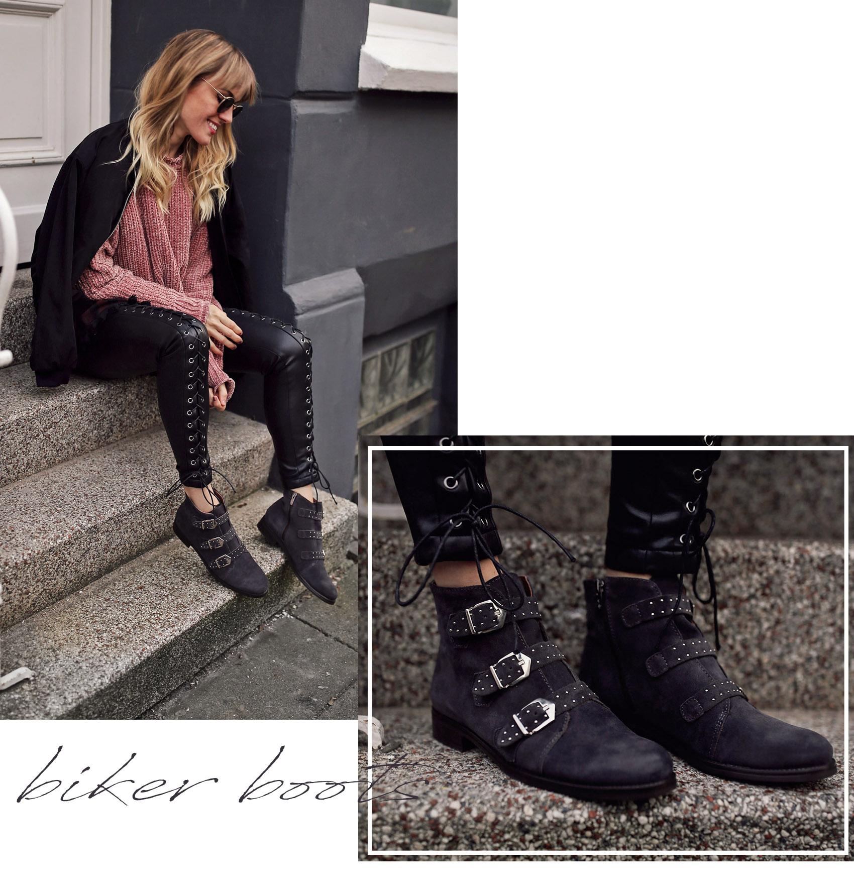 schuhe, sneaker, samt, velvet, jeans, plateau, biker boots, schnallenboots, nietenboots