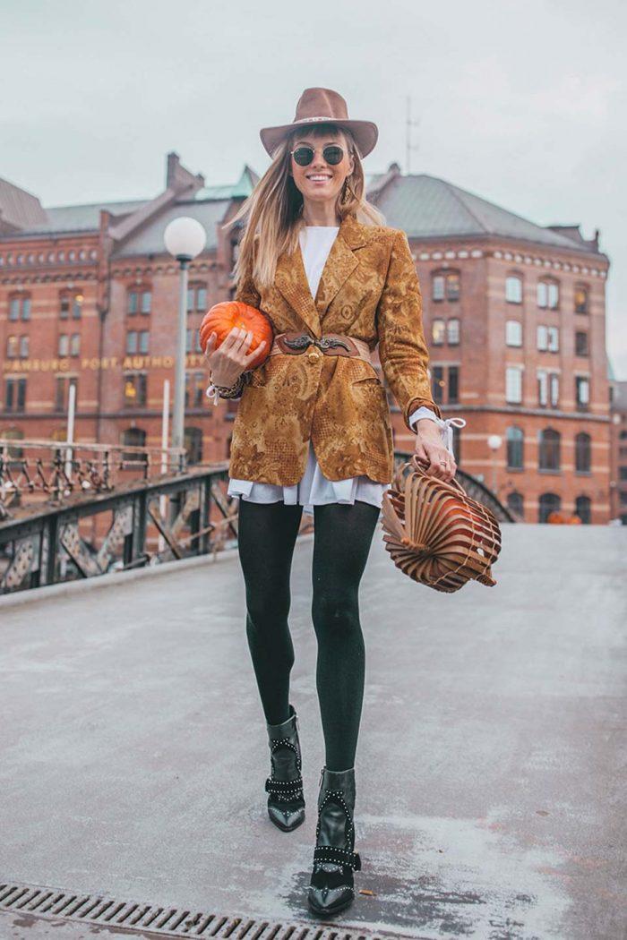ebay, vintage, blazer, hut, korb, tasche, handtasche, kürbis, boots, sonnenbrille, gürtel