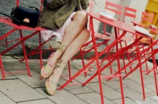 espandrilles, rock, kleid, parka, sommer, outfit, style, rosa, sandalen, sandaletten