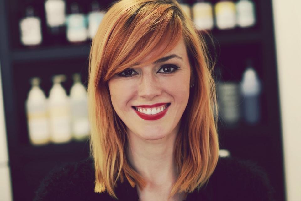 haare von rot auf blond