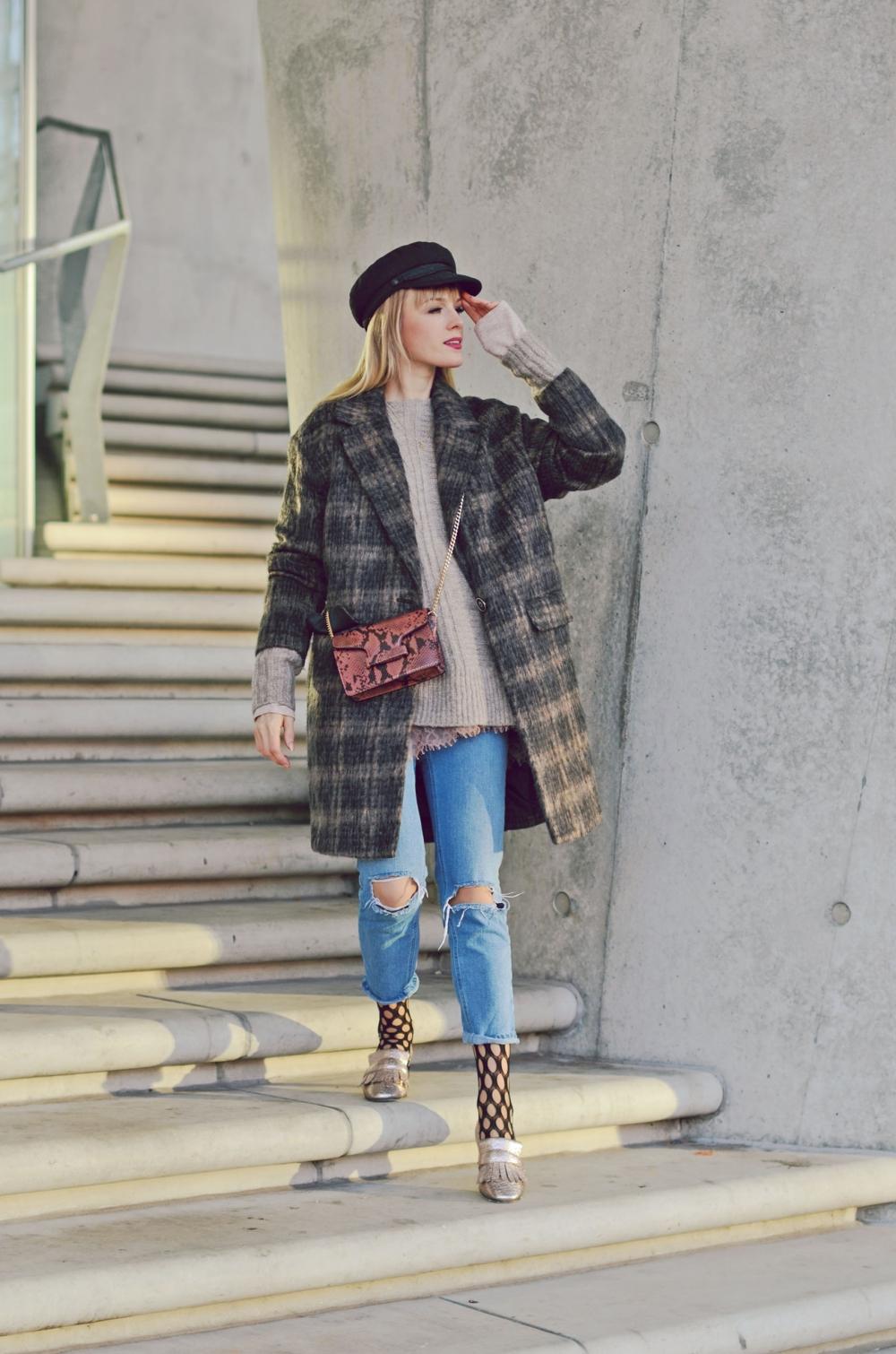 karomantel, denim, jeans, gucci, handtasche, mütze, maritim
