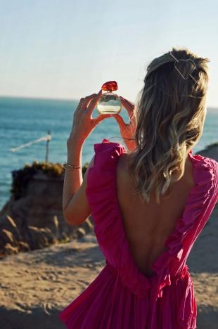 duft, parfum, kleid, sommerkleid, beuty, sommer, kette, tasche, handtasche
