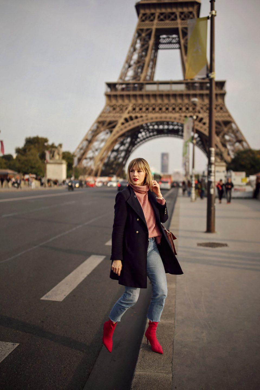 Pariser Chic  Französischer Mode-Herbst