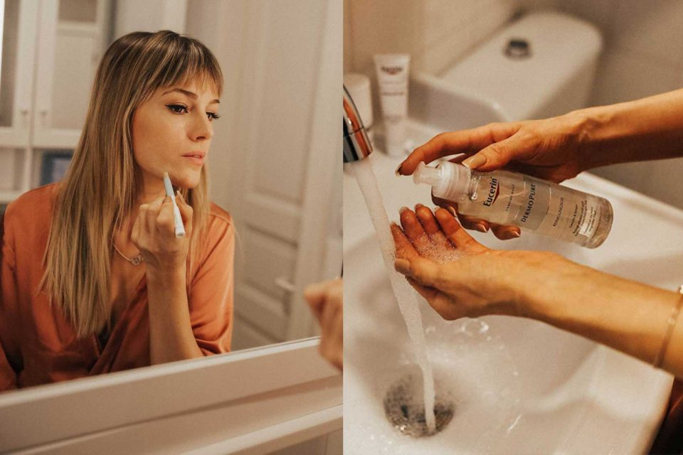 eucerin, pure skin coach, anti akne challenge, akne, haut, unreinheiten, abdeckstift, reinigungsprodukte, hautreinigung, abdecken