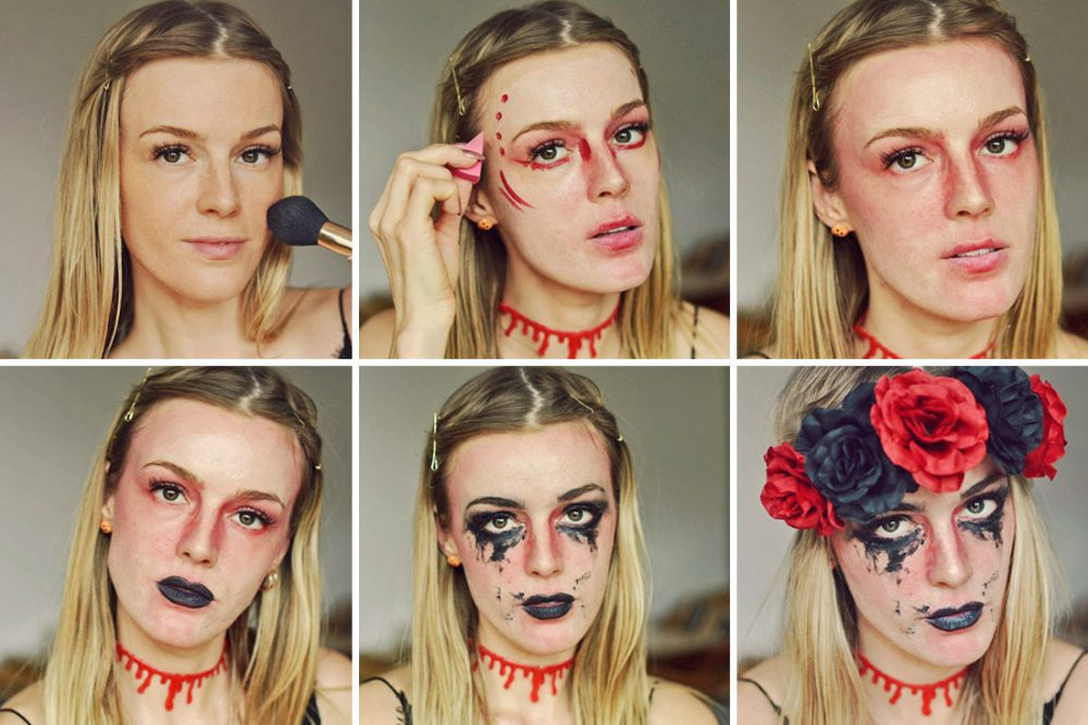 halloween, make up, tutorial, schminken