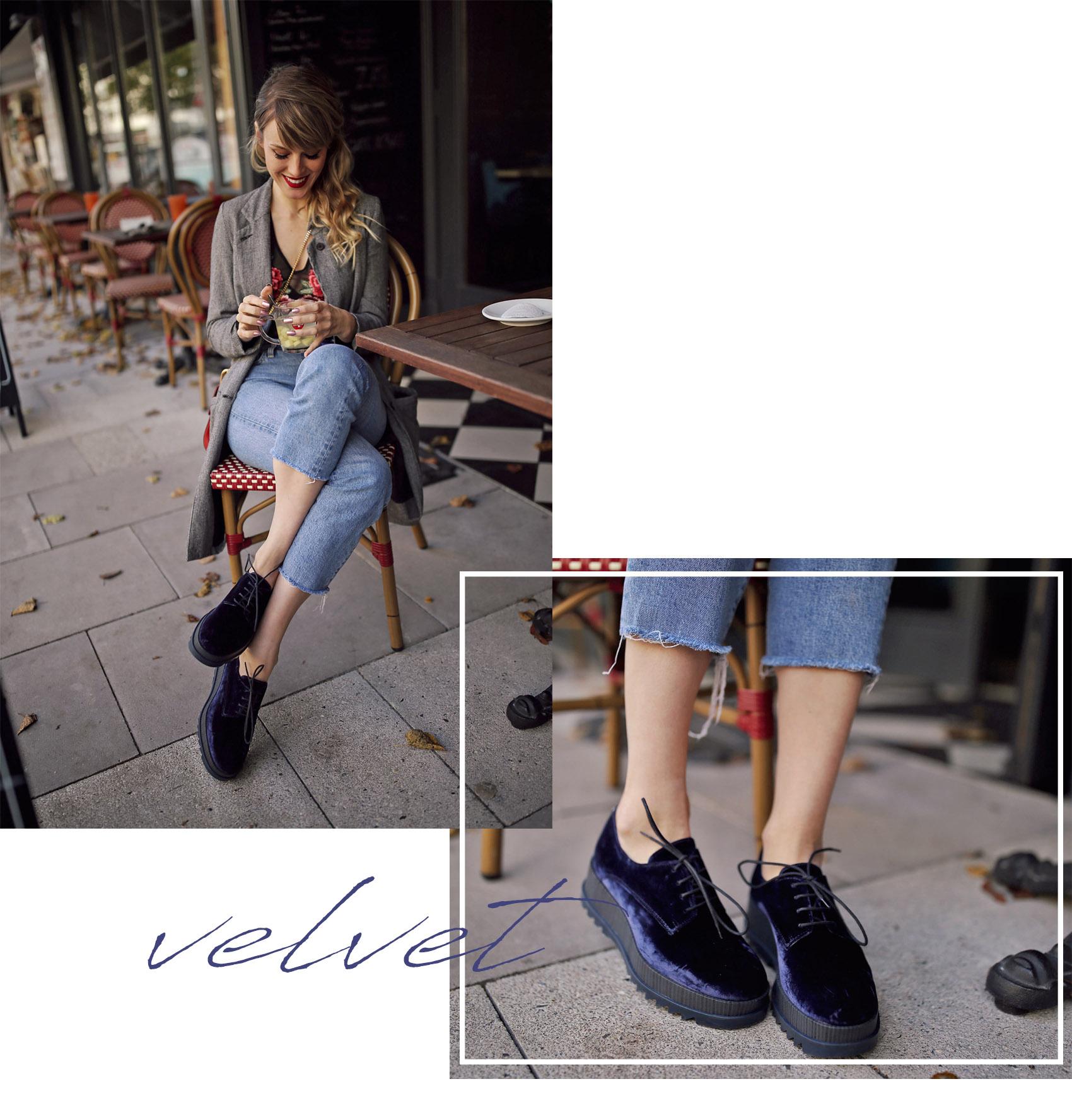 schuhe, sneaker, samt, velvet, jeans, plateau
