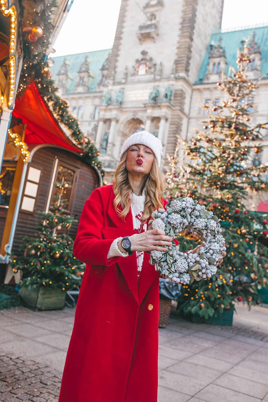 mantel, strickmütze, weihnachten,