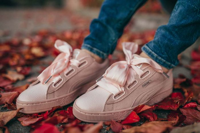 sneaker, puma, rosa